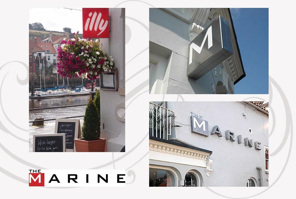 marine hotel signage