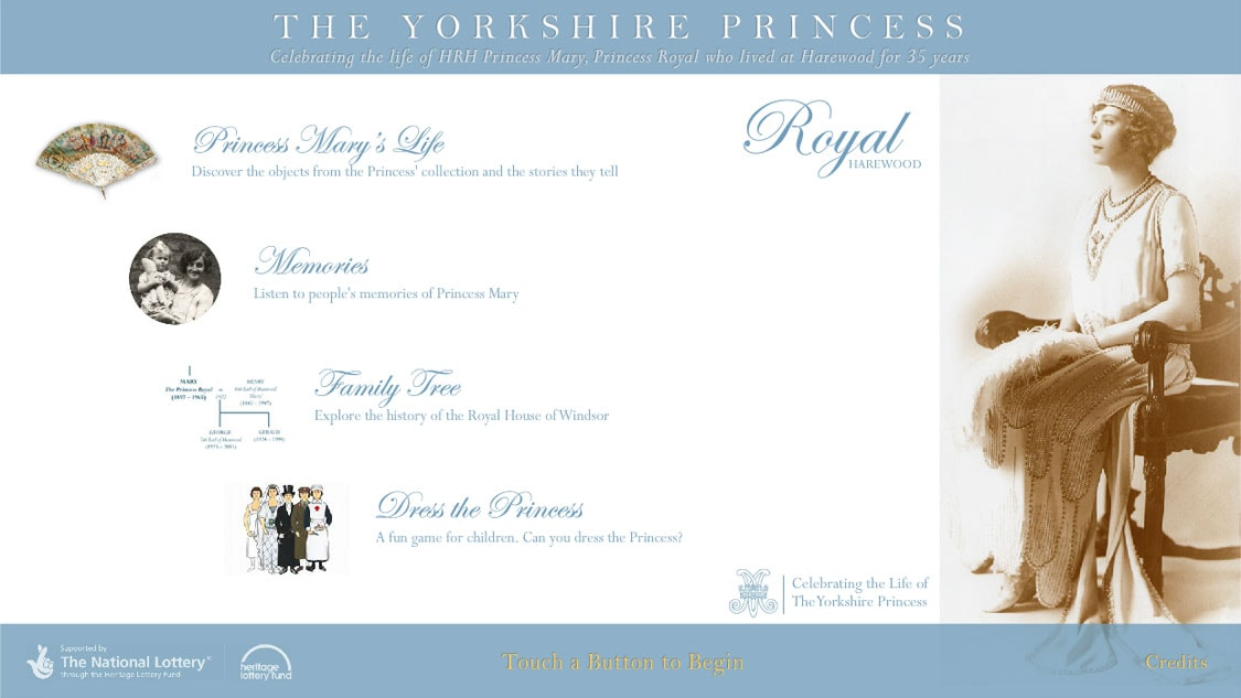 The Yorkshire Princess touchscreen