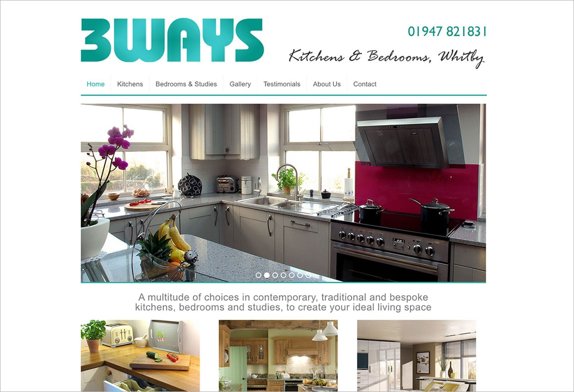 3 Ways Kitchens website