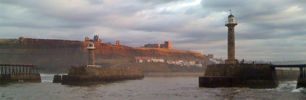 Approaching the harbour - Whitby