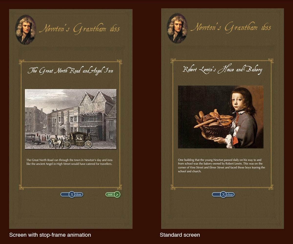 Newton's Grantham interactive