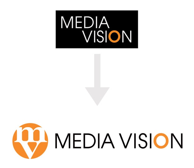 comparison of media vision logos