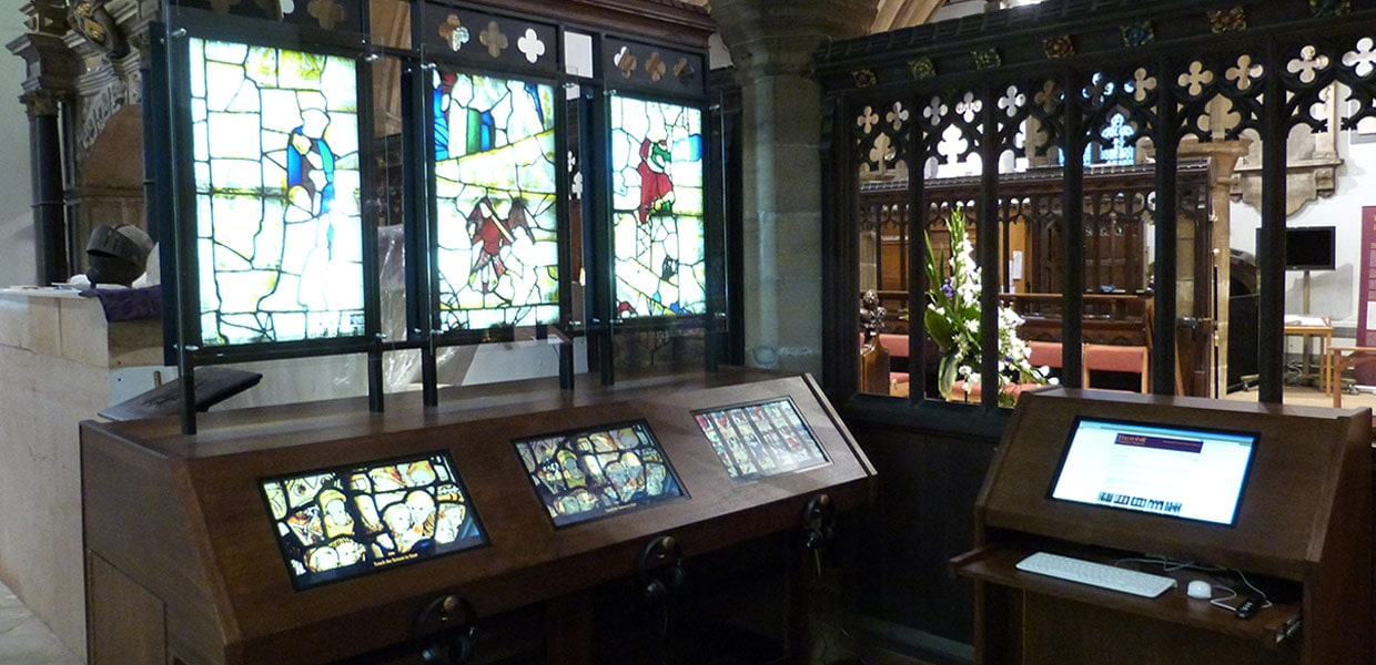 Touchscreens installed in a church by Media Vision
