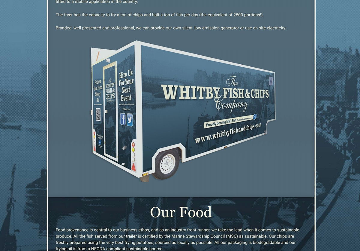 whitby fish and chips trailer