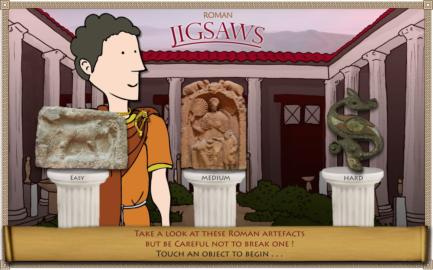 romans touchscreen interactive