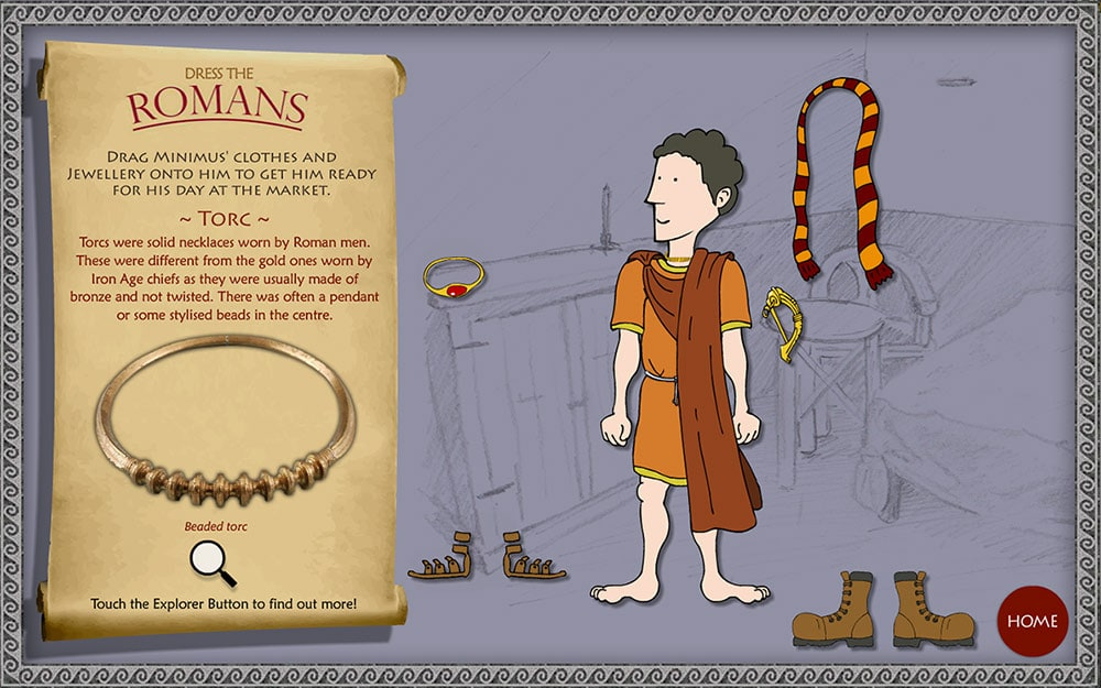 Childrens Game - Dress the Romans