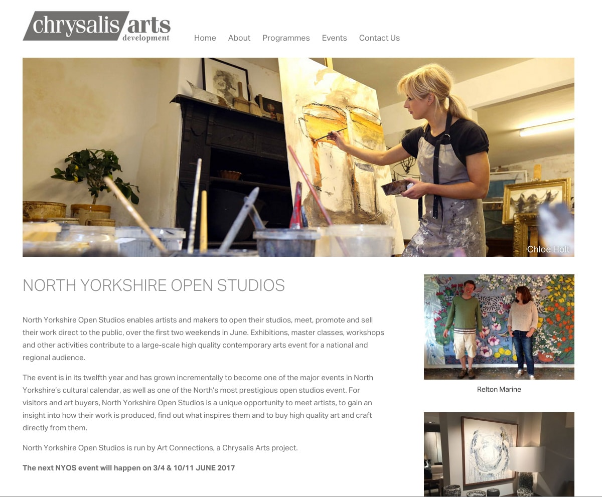chrysalis arts development