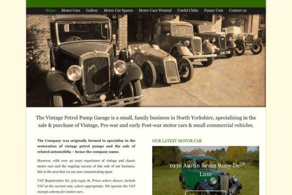The Vintage Petrol Pump Garage