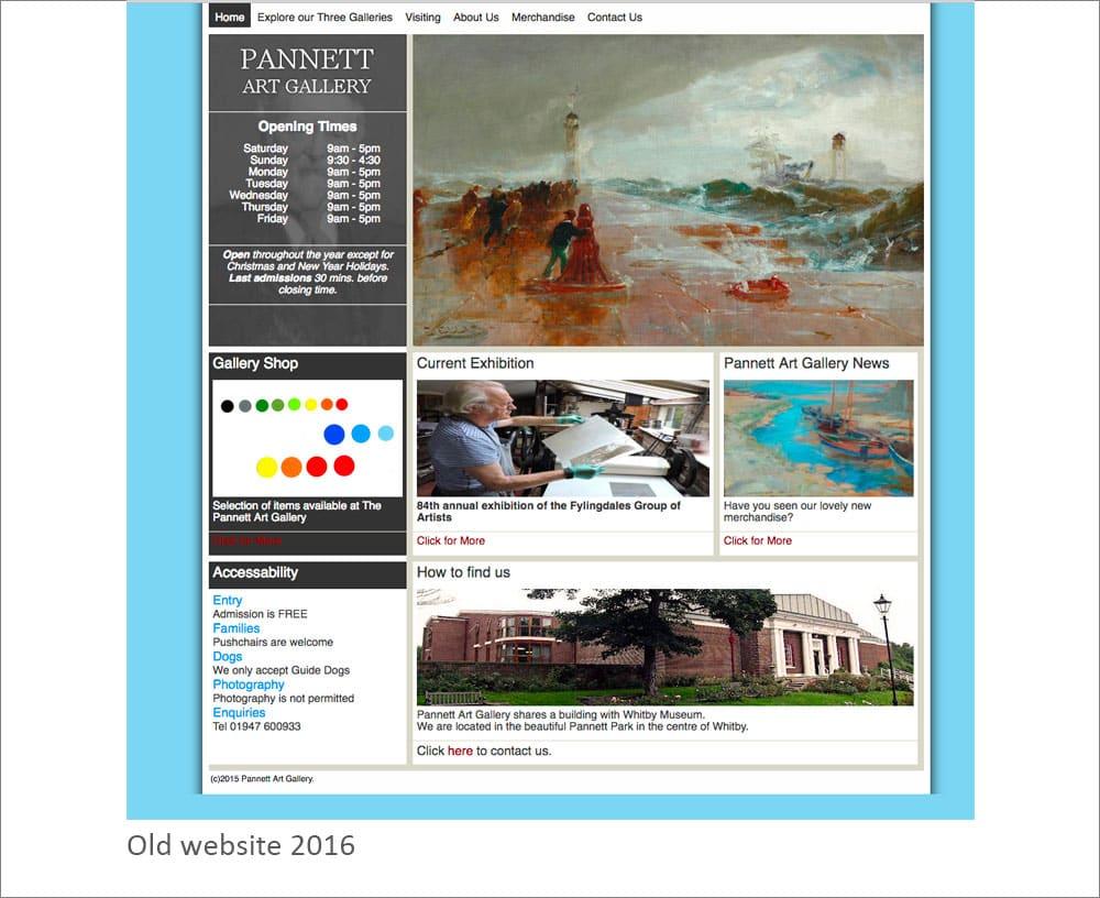 Old Pannett Art Gallery Website