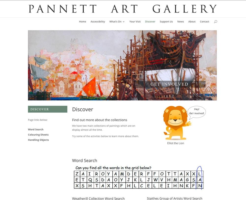 Pannett Art Gallery Website
