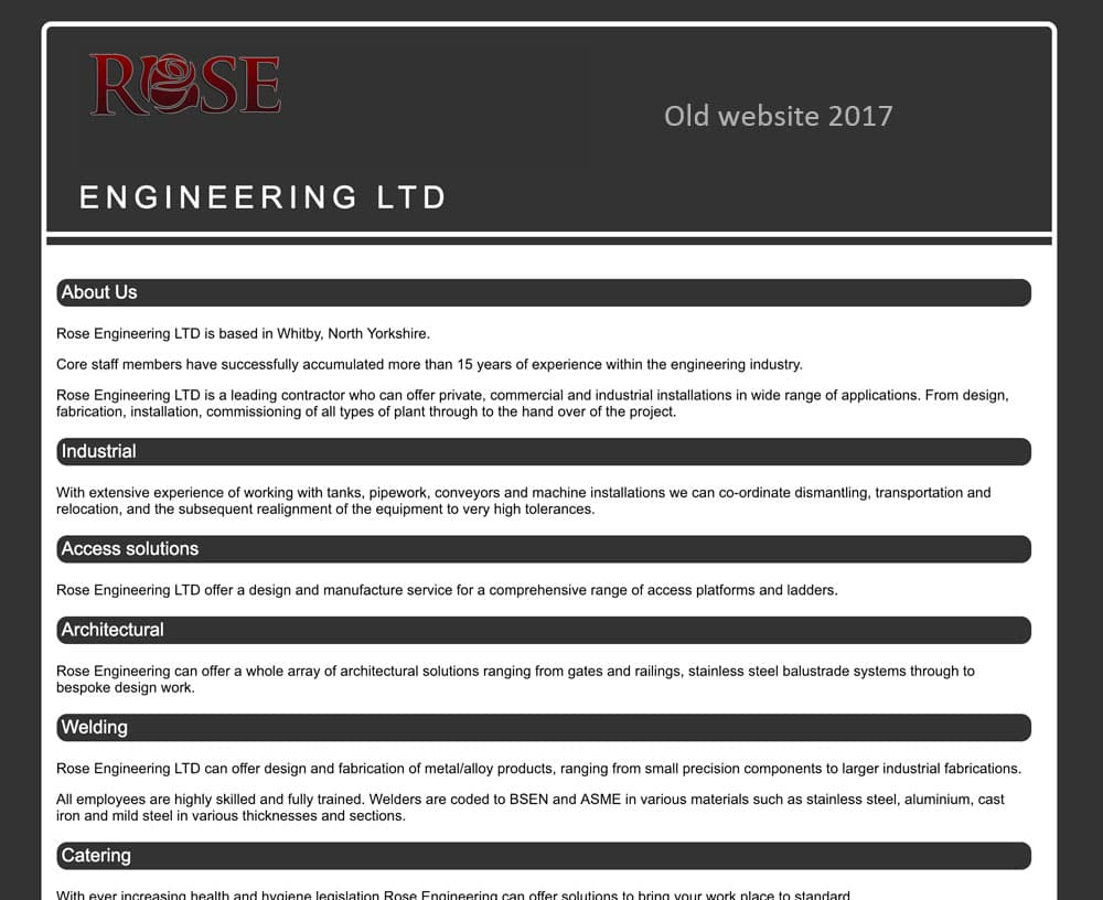 Rose Engineering old website